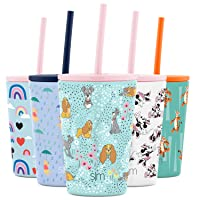 Simple Modern Insulated Kids Cup with Lid and Silicone Straw Stainless Steel Water Bottle for Toddlers Boys and Girls, 12oz Classic Tumbler, Lady and the Tramp