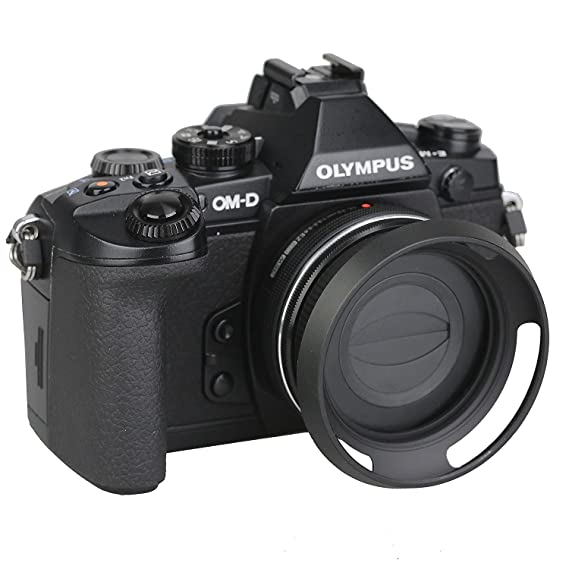 Maxsimafoto/ /42/mm f//3,5/ /32/mm f//3.5 Zuiko Digital ED 14/ /Kit de parasol de objetivo y tapa de objetivo autom/ática para Olympus M /5,6/EZ//Panasonic Lumix G Vario 12/