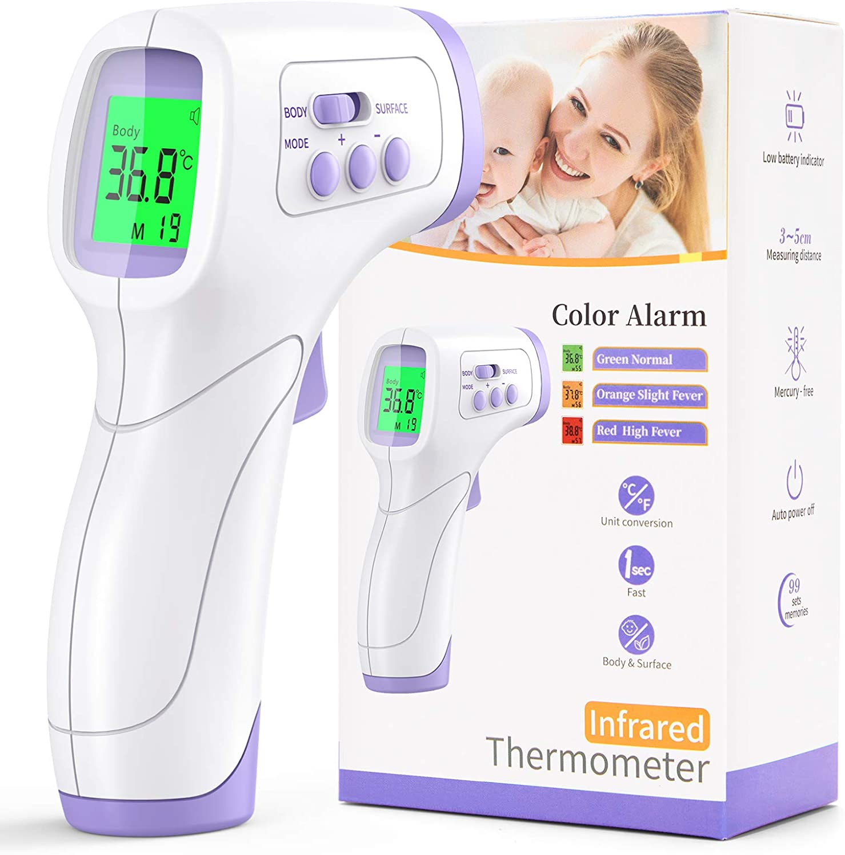 Termómetro Infrarrojos, KKmier Termómetro Infrarrojos médico laser precisa digital para Adulto, Hospital, Aeropuerto, Cuidado de la Salud en el Hogar