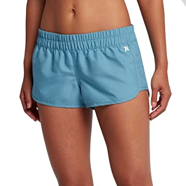 Women's Boardshorts - Hurley Supersuede Scallop Solid Beachrider - Black : O95m8676