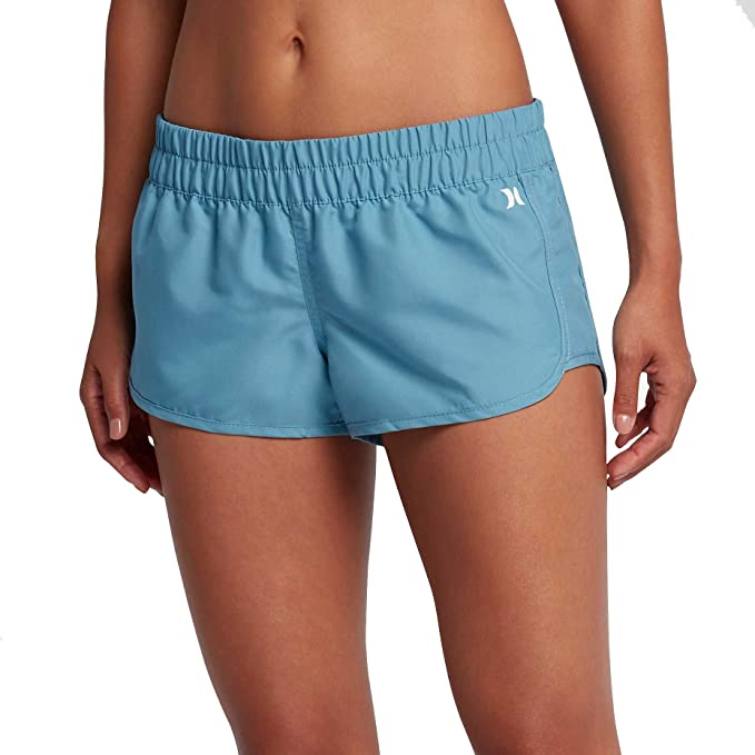 """565cc270e4 Hurley Women's Supersuede Solid Beachrider 2.5"""" Board Short, ..."""