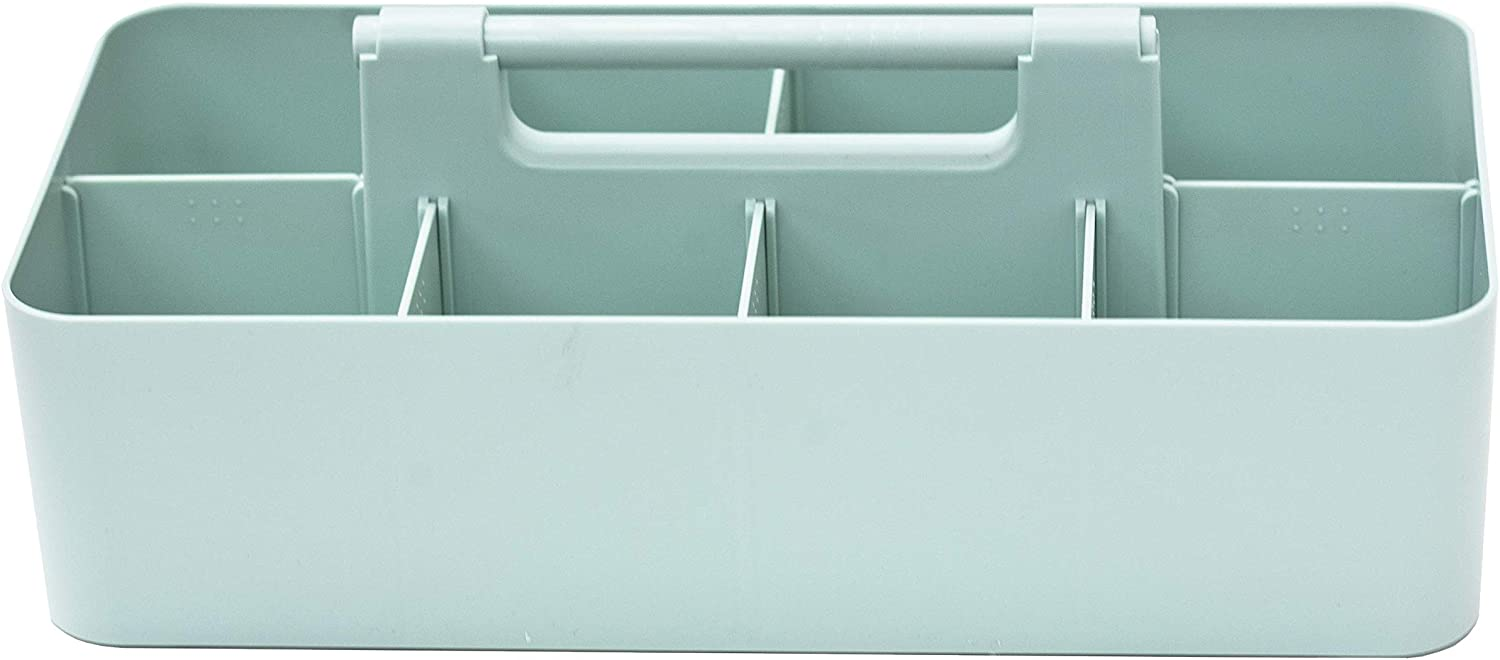 Enjoy Organizer -Large Portable Caddy, DIY Dividers, 8 Compartments, Office Supplies Organizer, Simple, Portable Basket with Handle Storage Organizer Modern,Endless Multi Use -Made in USA