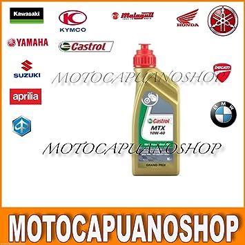 Aceite Motor cambio 2 T 10 W40 Castrol MTX Vespa Moto: Amazon.es ...