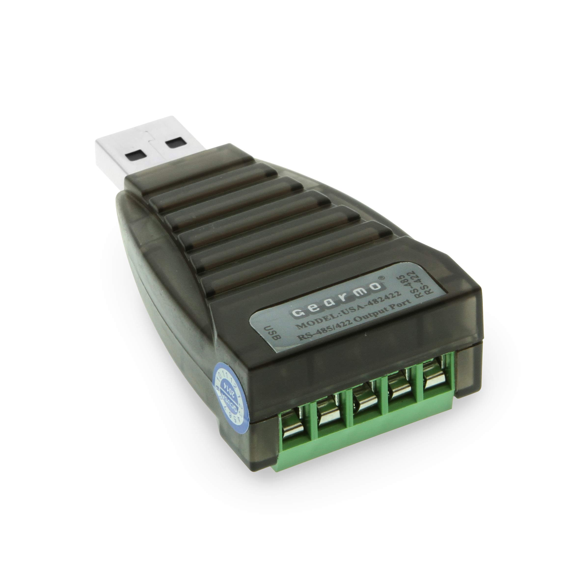 GearMo Mini USB to RS485 / RS422 Converter FTDI CHIP with Screw Terminals and Windows 10 Support by Gearmo