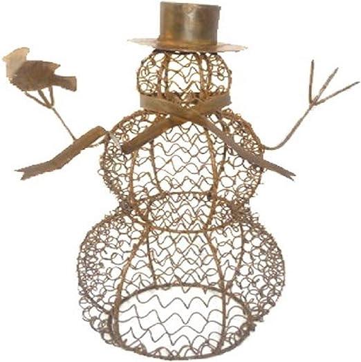 Craft Outlet Inc Craft – Lata de Malla de Alambre para jardín Figura de muñeco de Nieve, Multicolor, 36,8 cm, 14.5: Amazon.es: Hogar