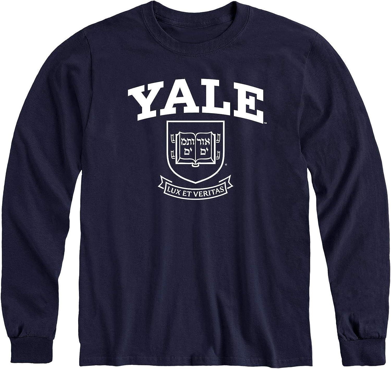 Ivysport Long Sleeve Cotton Adult T-Shirt, Heritage Logo, Color