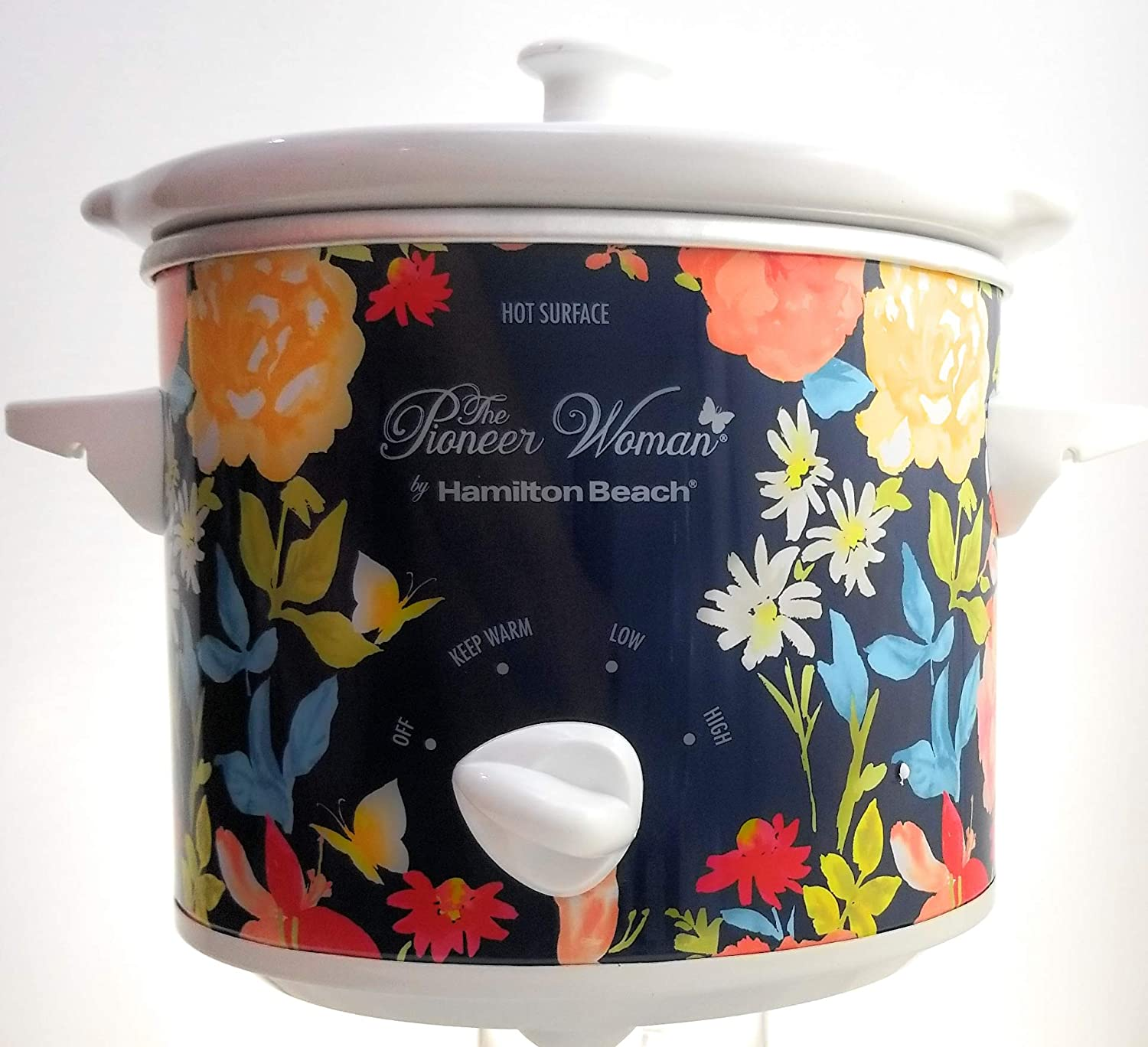 The Pioneer Woman 1.5 Liter Fiona Floral Slow Cooker Crock Pot Cooking Pot
