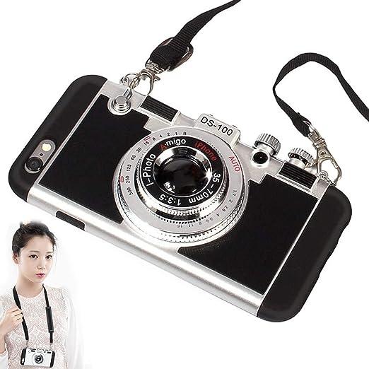 ZAMTOP Nuevo Emily in Paris Phone Case Vintage Camera para iPhone 7//8, Negro Brillante