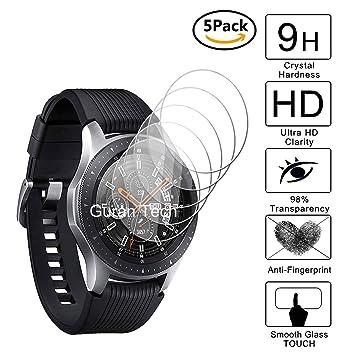 Guran [5-Unidades] Protector de Pantalla Vidrio Cristal Templado para Samsung Galaxy Watch 46mm Smartwatch Cristal Vidrio Templado Film (9H, 2.5D ...