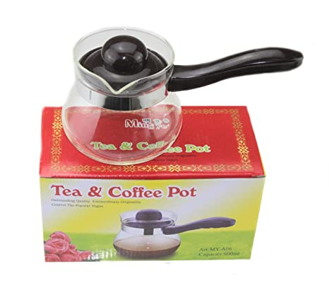 Calor Resisitant café de té de cristal con asa (cristal de 600 ml leche Pot