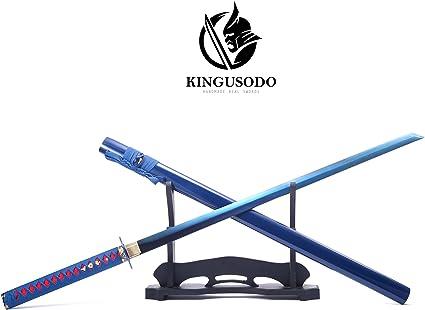 Amazon.com: KINGUSODO Espada Ninja, Real hecha a mano ...