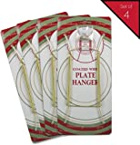 Banberry Designs Brass Vinyl Coated Plate Hanger 8 to 10 Inch - Set of 4 Pcs  sc 1 st  Amazon.com & Amazon.com: Plate Hanger For Collector Plates. Holds 7\