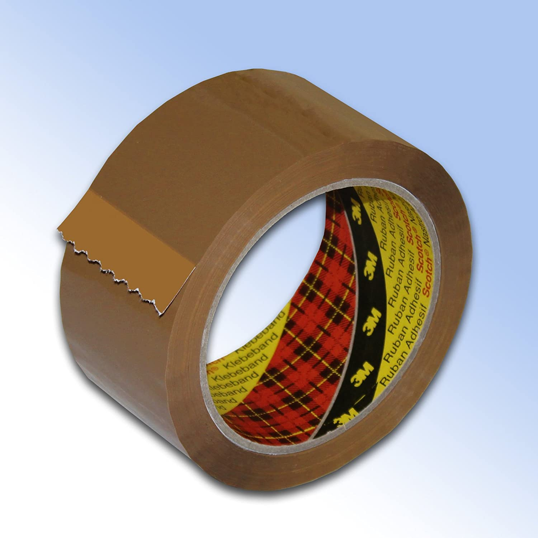 12 Rolls Buff 3M Scotch Parcel Packing Tape 48mm x 66m