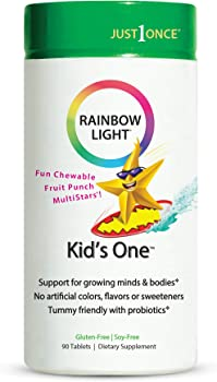 Rainbow Light Kids One Multivitamin Chewable Probiotic 90 Tablets