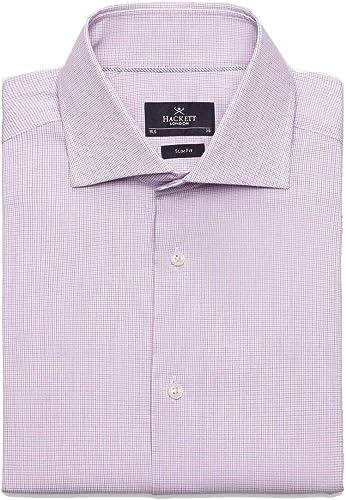 Camisa Hackett Stretch Mini Graph Check Azul/Rosa Hombre 17cm: Amazon.es: Zapatos y complementos