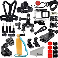 Kupton Accessories for GoPro Hero 7/6 / 5 Action Camcorder Camera Accessories Mounts Waterproof Case Chest Head Strap Bike Car Backpack Clip Mount for Go Pro Hero7 Hero6 Hero5