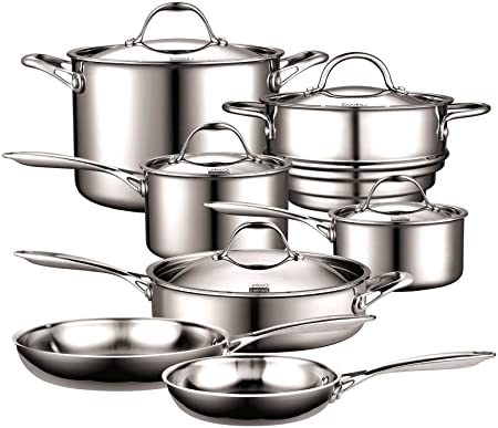 Cooks Standard Multi-Ply Clad Stainless-Steel 10-Piece ...