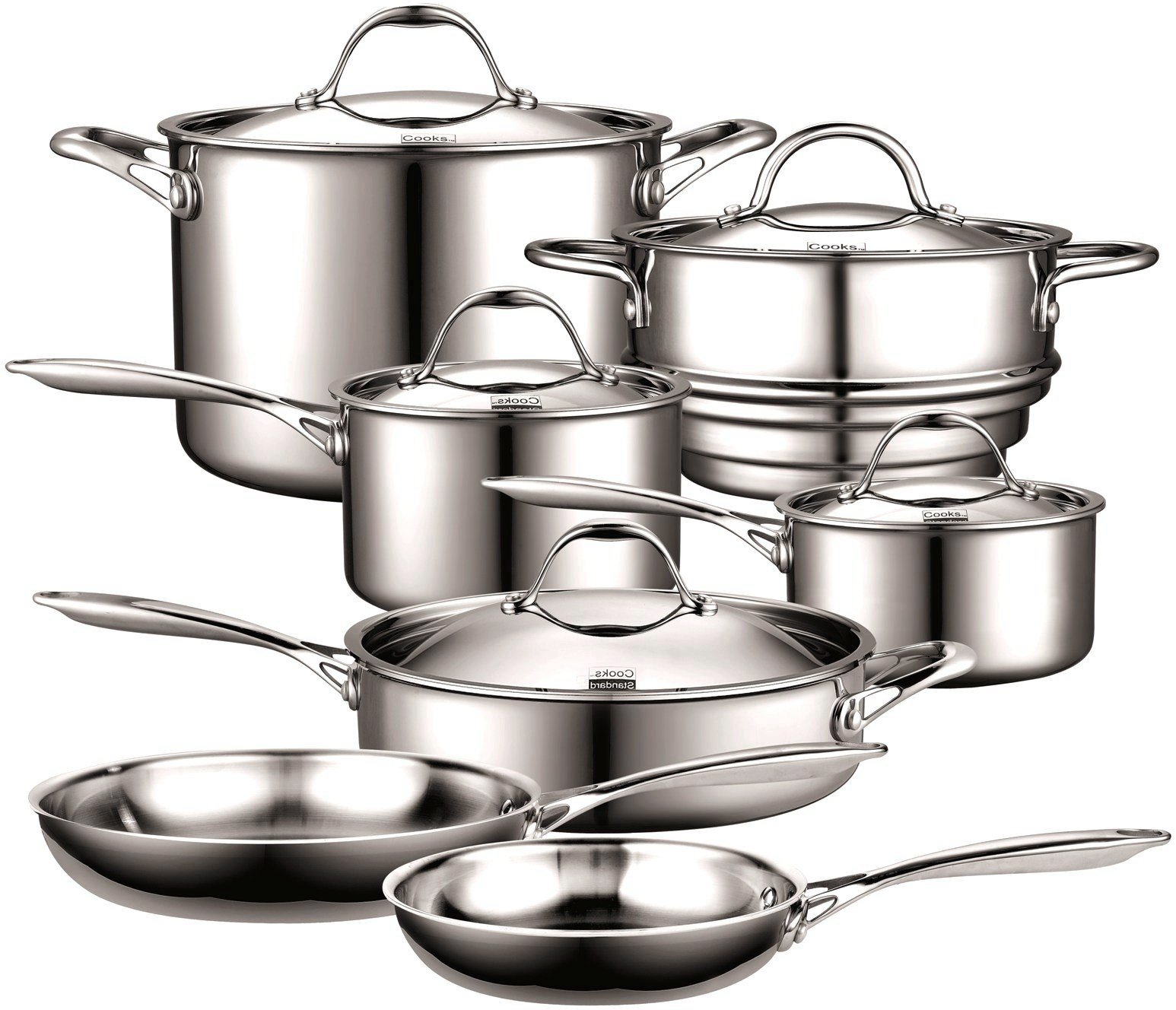 Cooks Standard 12-Piece Multi-Ply Clad Stainless Steel Cookware Set by Cooks Standard (Image #1)