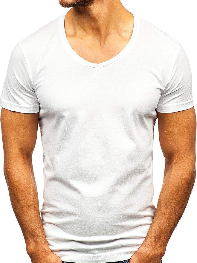 BOLF Hombre Camiseta de Manga Corta con Cuello Redondo Básica ...