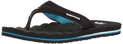 Billabong Men's Dunes Impact Non Slip Water Resistant Sandal Flip Flop,  Black/Blue,