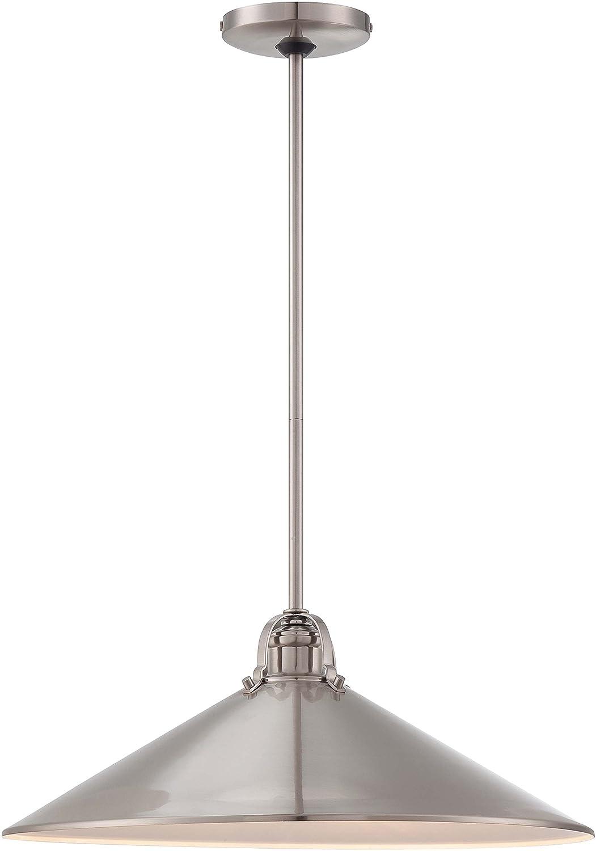 Minka Lavery 2251-84 3 Light Pendant in Brushed Nickel Finish w/ Metal Shade by Minka Lavery B00C3ZM06W 18 in. Diameter x 7 in. H|つや消しニッケル つや消しニッケル 18 in. Diameter x 7 in. H