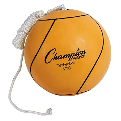 Champion Sports Optic Yellow Tether Ball : Reinforced Tetherball : Sports & Outdoors