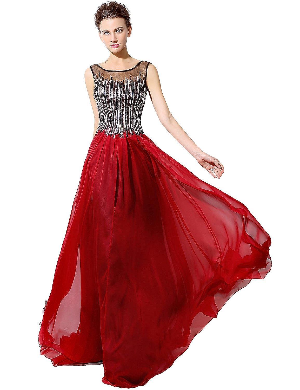Favebridal Women's Sleveless Beaded Mermaid Prom Dress LX033
