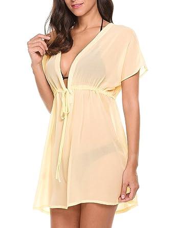 deffb417328de Ceanfly Women Bikini Cover up Beach Beachwear Swimwear Cover Ups Loose Beach  Dress: Amazon.co.uk: Clothing