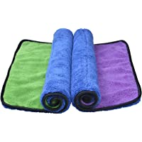 Sinland Microfiber Car Cleaning Cloths Plush Thick Car Waxing Polishing Towels Car Wash Cloths 720gsm 40CM X 40CM 2 Pack