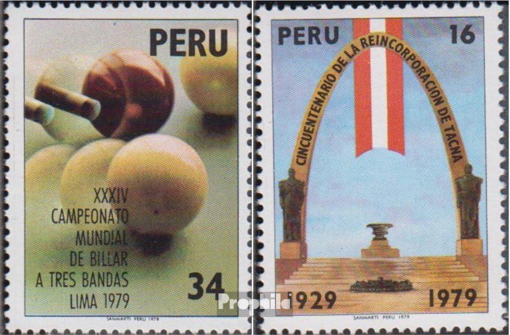 Prophila Collection Perú 1139,1145 (Completa.edición.) 1979 Billar ...