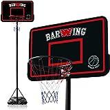 YouTen(ユーテン) バスケット ゴール バスケット ボール 高さ調整可能 160cm ~ 305cm 屋外用 ミニバス から 一般 までポータブルゴール 家庭用 リング 公式サイズ 高さ8段階調節 スポーツ ポータブル