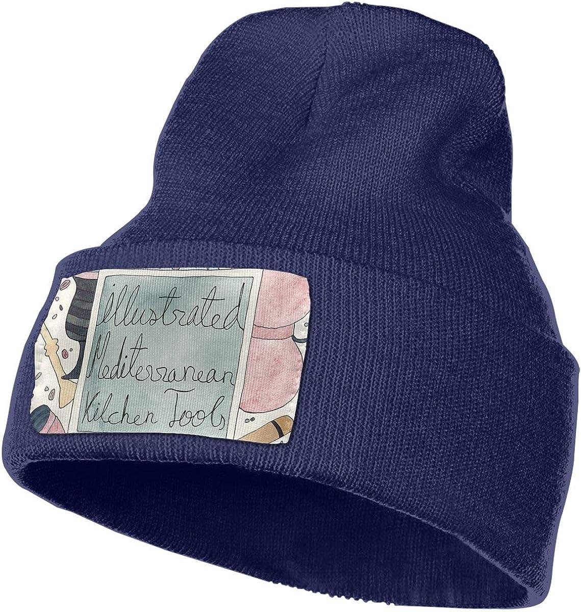 ONHIM Illustrated Mediterranean Kitchen Tools Men /& Women Soft Warm Kintted Beanie Hat Slouchy Jogging Beanie
