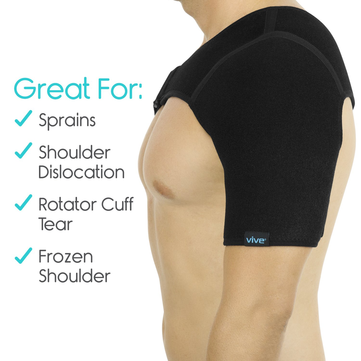 Amazon Vive Shoulder Brace Rotator Cuff Compression Support