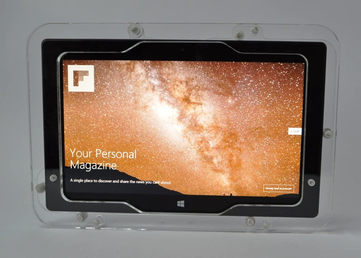 Surface Pro 2 Clear Security Enclosure with Wall Mount Kit MS Surface Pro 1