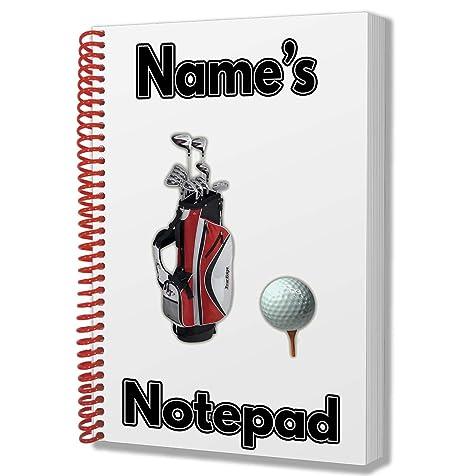 Palos de golf regalo personalizada - A5 bloc de notas ...