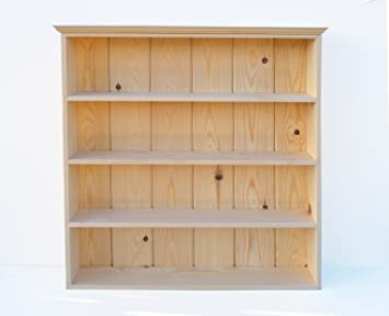 Traditional Solid Pine Spice Rack Kitchen Display Shelves