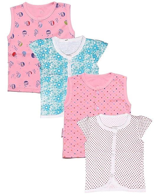 c00b20555 babeezworld Baby s Cotton Front Open Vest T-Shirt (Multicolour