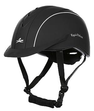 EKKIA – Casco de hípica de Thème (Compet, Color Negro, tamaño Medium