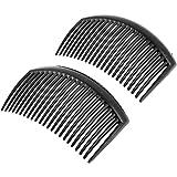 sourcingmap® 2 PIÈCES Noir Plastique 20 Dents Coiffure Peigne À Cheveux Clip pour femmes