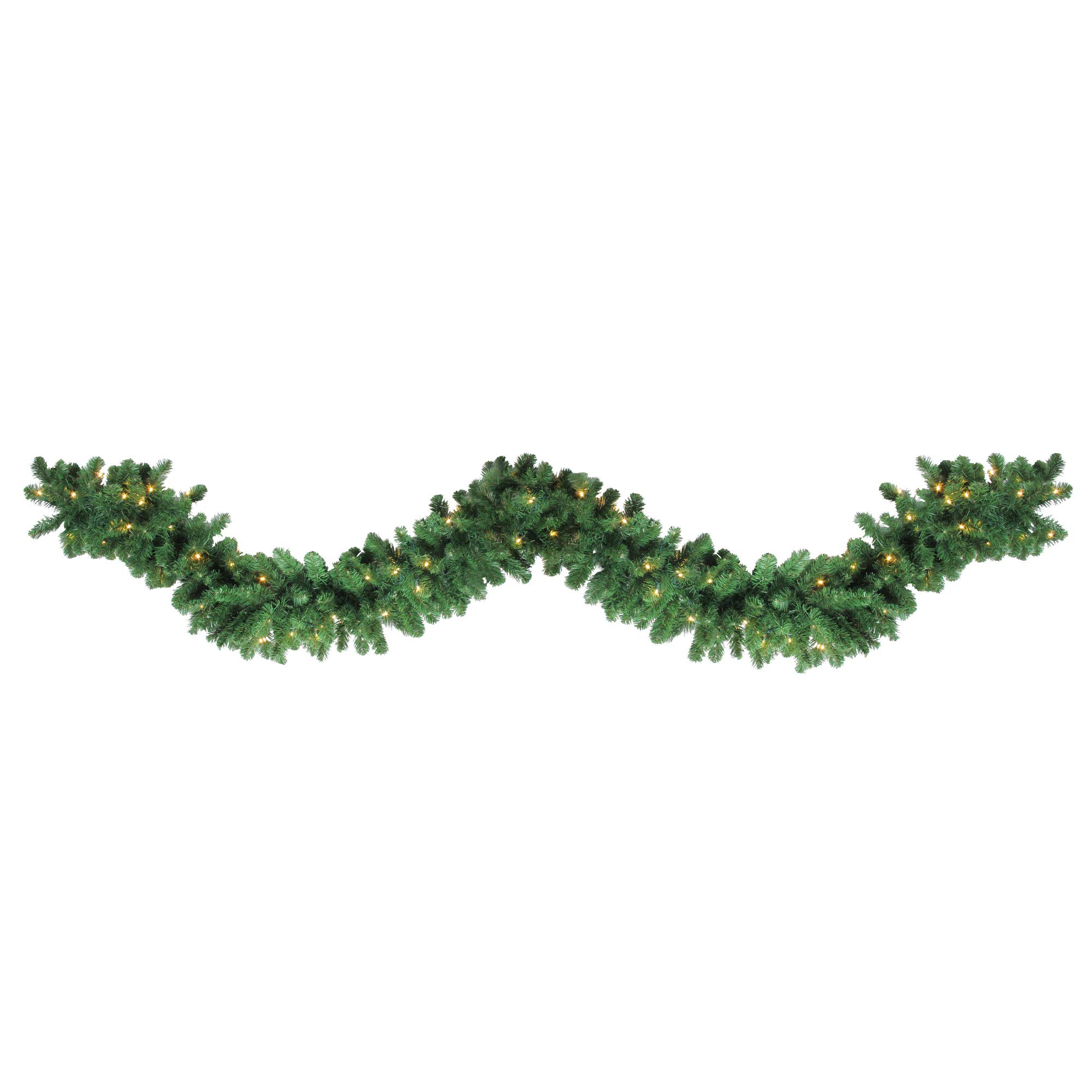 Northlight 27' x 14'' Pre-Lit Olympia Pine Artificial Christmas Garland - Warm White LED Lights