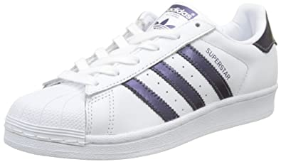 huge selection of e4383 11e2d adidas Superstar W, Chaussures de Fitness Femme, Blanc Purple Night  MetallicFootwear White