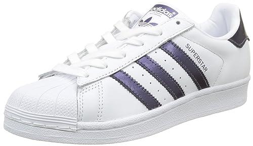 sale retailer 5ebd8 d9564 Adidas Superstar W, Scarpe da Fitness Donna, Bianco (Ftwbla Pumeno Ftwbla