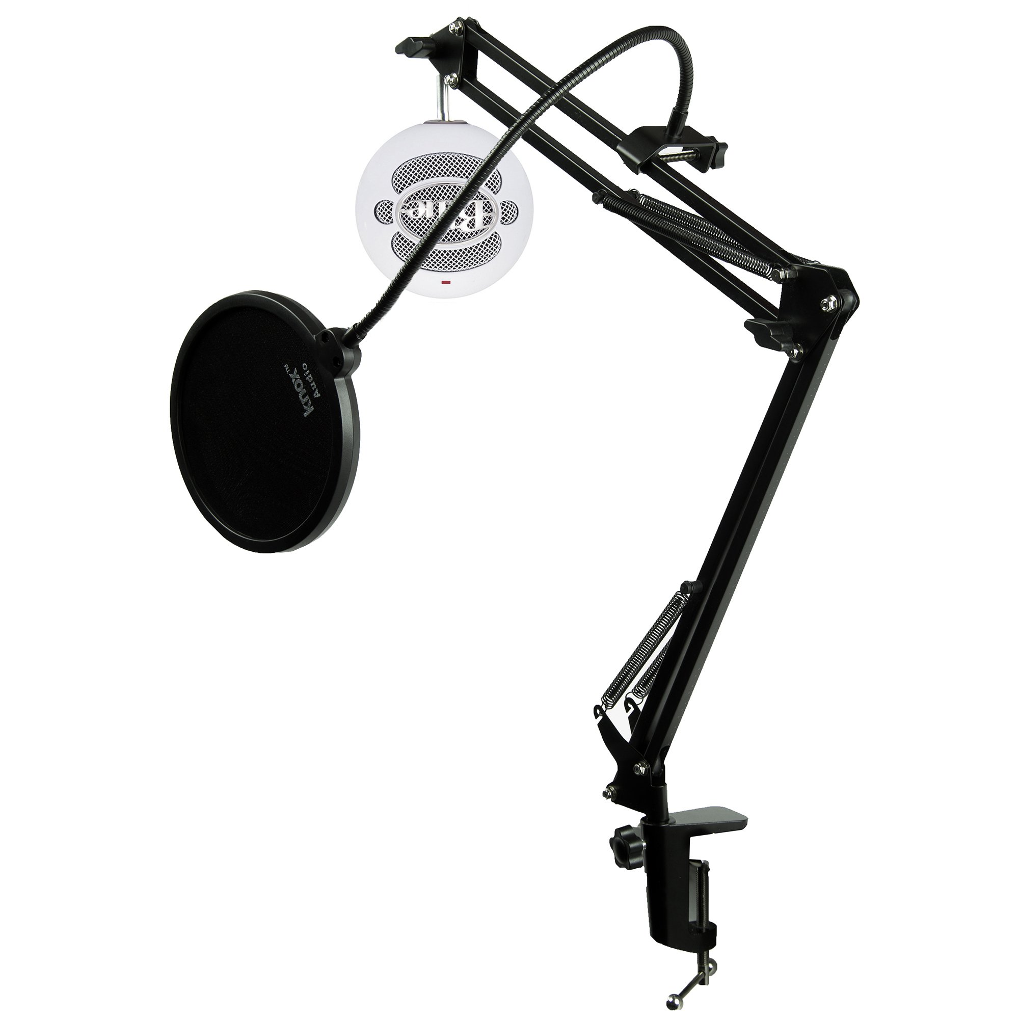 Blue Microphones Snowball iCE USB Microphone with Knox Studio Arm and Pop Filter by Knox