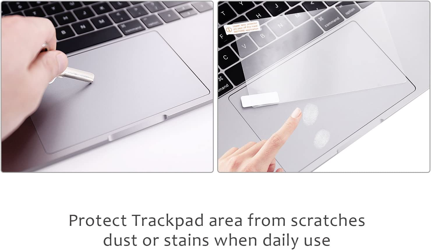 FORITO Palm Rest Cover Skin with Trackpad Protector Compatible for 2019 or 2018 or 2017 or 2016 Released 13 Inch MacBook Pro Model a2159 /& A1989/&A1706 /& A1708 with or Without Touch Bar Silver