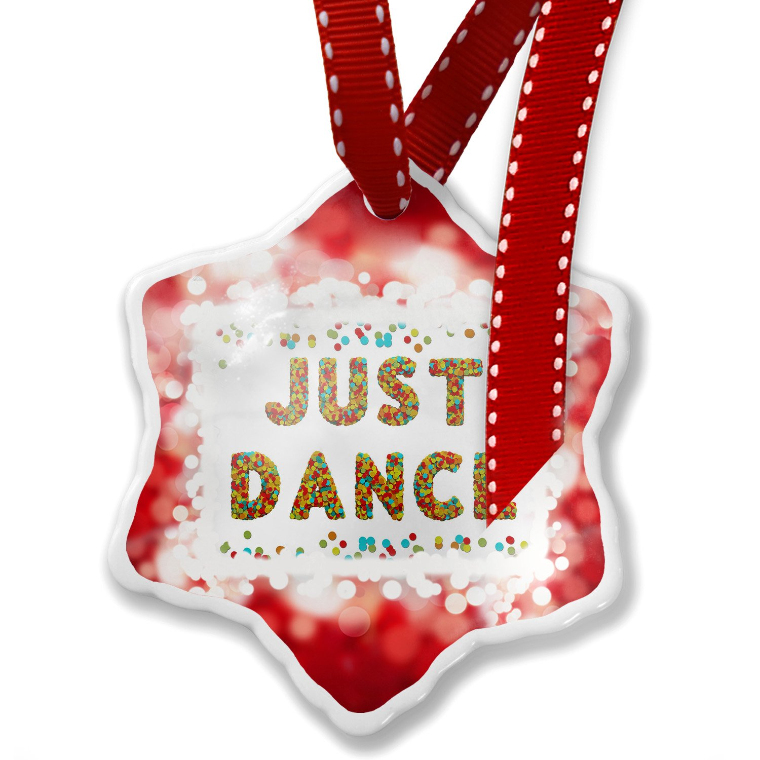 Christmas Ornament Just Dance Birthday Party Confetti, red - Neonblond