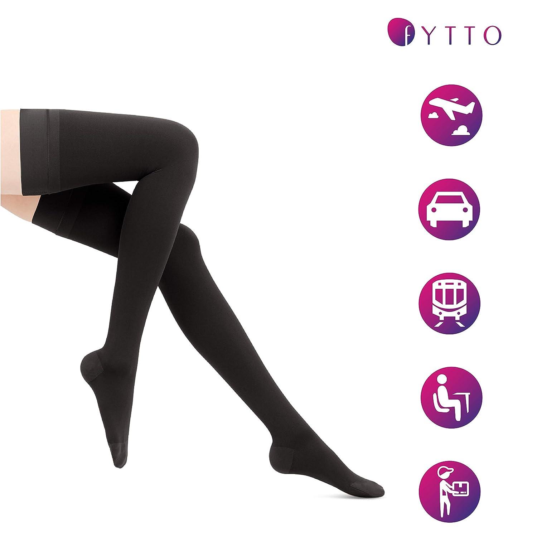 Fytto 2124 I Medias Largas de Compresi/ón Graduada para Mujer 20-30mmHg Talla XL Consulta con tu M/édico antes de Realizar el Pedido