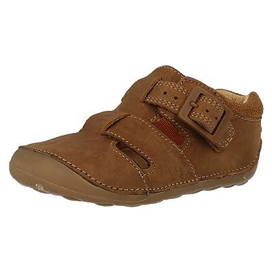e184b795f62 Clarks Boys Closed Toe Cruiser Sandals Steamboat 2 - Tan Leather - UK Size  3F - EU Size 18.5 - US Size 3.5M  Amazon.co.uk  Shoes   Bags