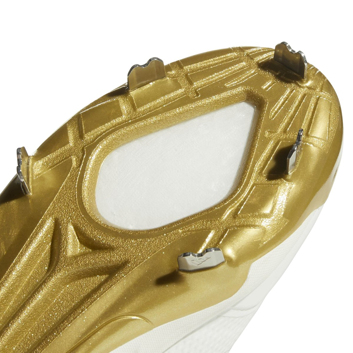 adidas Icon 4 Cleat - Men's Baseball 6.5 White/Gold Metallic