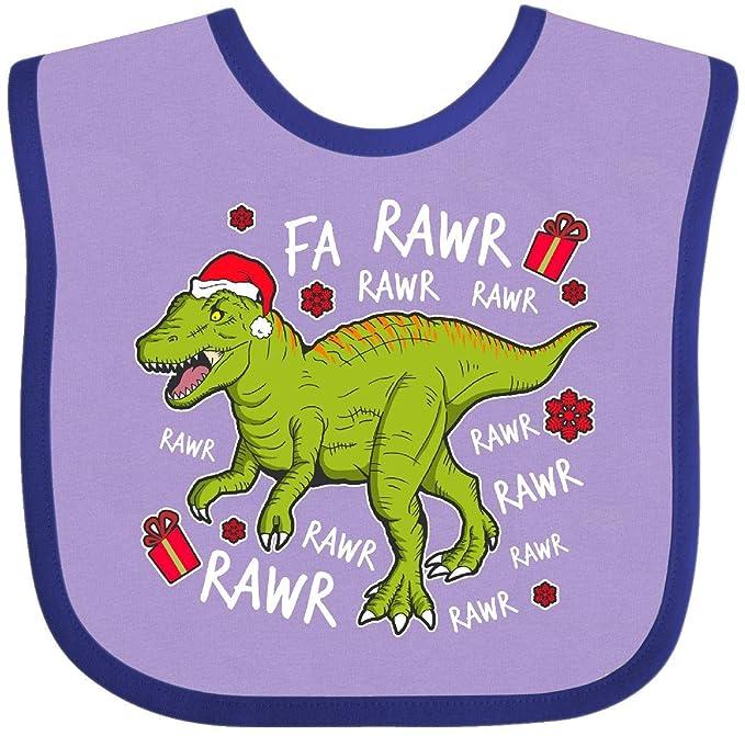 19e5ae1db Amazon.com: Inktastic - T-Rex Singing Christmas Music Baby Bib Lavender and  Purple 2e07e: Clothing