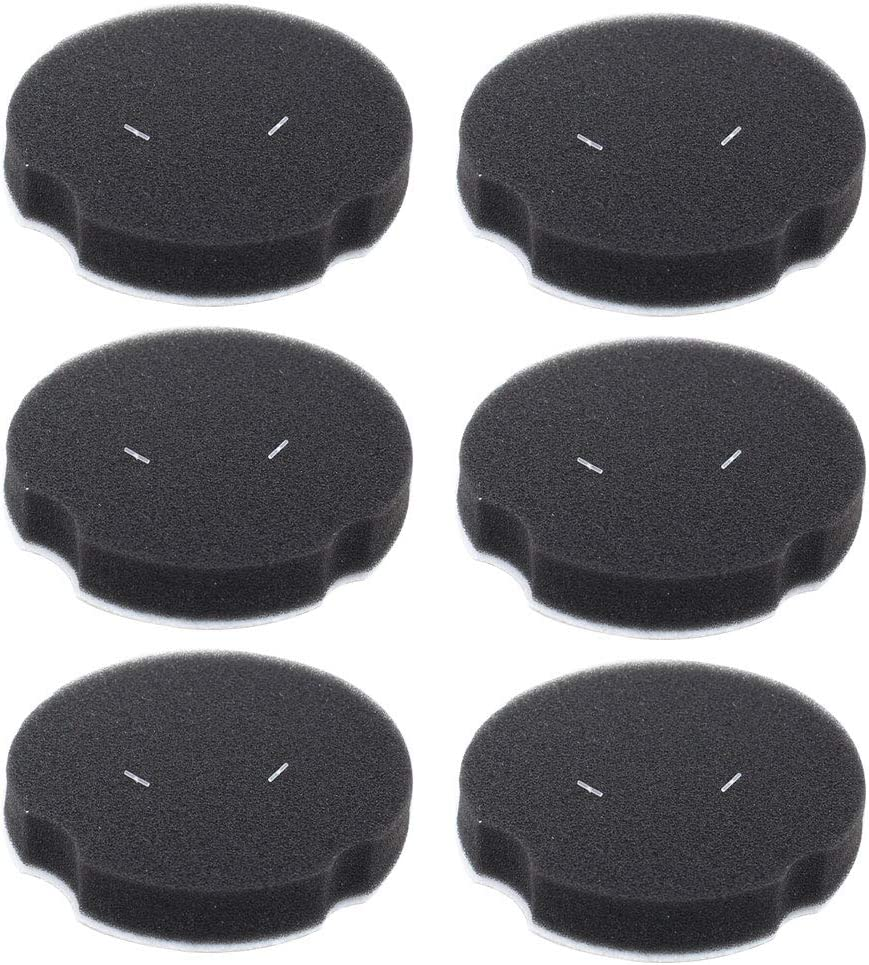 ApplianPar Pack of 6 Vacuum Filters for Bissell Powerforce Compact Lightweight Vacuum Cleaner 1520 2112 Series Replace 1604896 160-4896